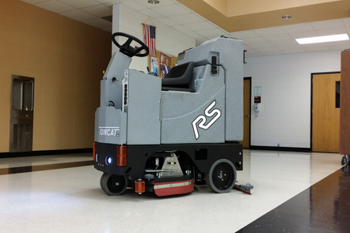 Edge rs floor scrubber drier compact ride on machines for Floor zamboni machine