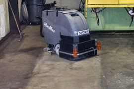 Automatic commercial floor cleaners small sweeper for Scrubbing concrete floors